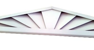 10 12 Pitch Sunrise 60 X 25 Triangle Gable Vent 1 Gable Vents Vented 10 Things