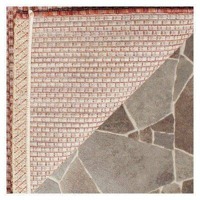 cherwell rectangle 2 x 37 outdoor patio rug red beige