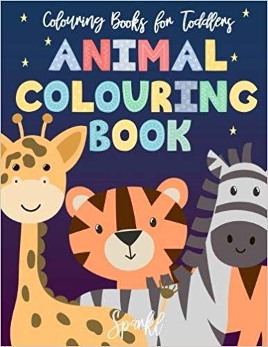 Colouring Books For Toddlers Animal Colouring Book: Cute ...