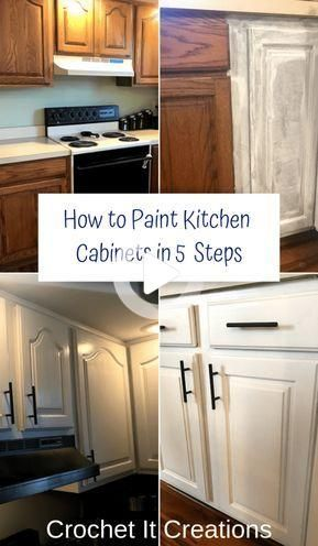 Como Pintar Gabinetes De Cocina En 5 Pasos Kitchen Diy Makeover Kitchen Design Diy Refurbished Kitchen Cabinets