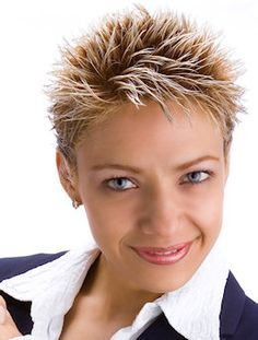 short spiky hairstyles for women over 50 | Short, spiky haircut in ...