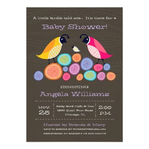 Woodland Quail Baby Shower Invitation II
