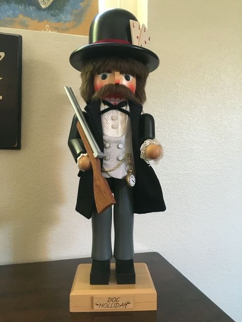 Doc has arrived!   Christian Ulbricht's Doc Holliday Nutcracker stands around 18