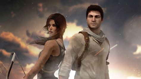 Download Lara Croft and Nathan Drake Tomb Raider Uncharted Crossover 2880x1620