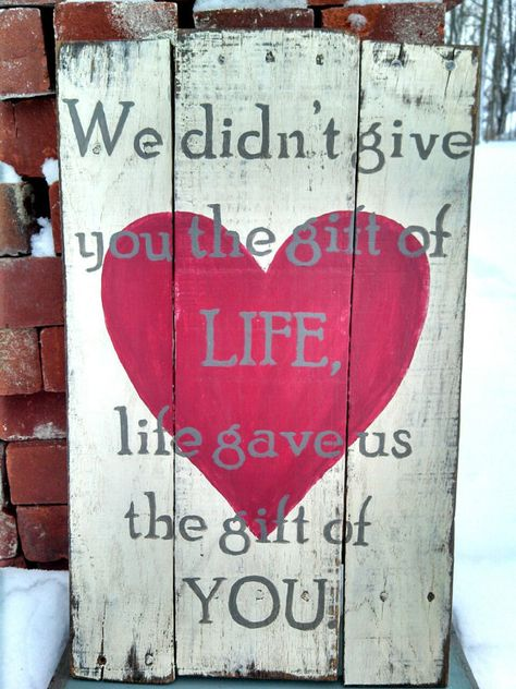 Adoption Quote Sign  12x20 by Homeisasanctuary on Etsy  I love this (how about a craft fair with someone creative making some of these to see - proceeds for #pbcfapa #fapapbc
