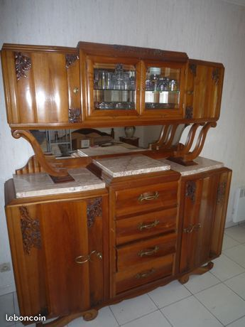 Buffet Art Deco Avec Vitrine Meuble Bas Mobilier De Salon Art Deco