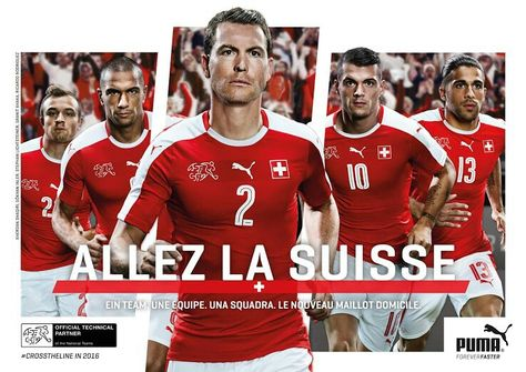 Domicil Len switzerland 2016 soccer shirts