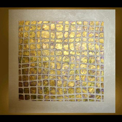 Etsy Original Abstract Metallic Painting 24X24 Gallery Wrapped Metallic Gold, Peridot Green and Lt. Purple PICK YOUR COLORS