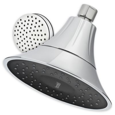 Brondell Vivaspring Filter Showerhead In Chrome Obsidian Bed