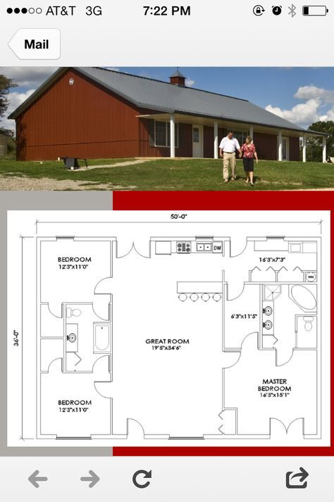 Pole Barn Houses Are Easy To Construct Metal House Plans Barn House Plans Morton Building Homes