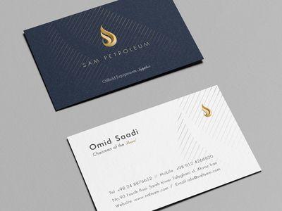 Sam Petroleum Business Card Business Card Template Business Cards Creative Business Card Mock Up