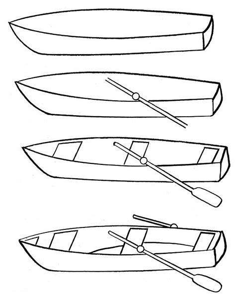 Image Result For Simple Fishing Boat Boat Drawing Simple Boat Drawing Art Drawings For Kids