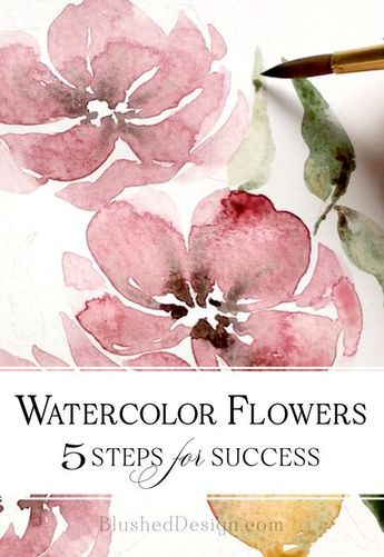 Watercolor Flowers Aquarelle Fleurs Toiles Peinture Acrylique