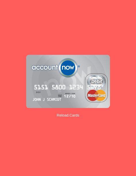 Reloadable Prepaid Cards >> Accountnow Prepaid Card Reloadable Prepaid Cards