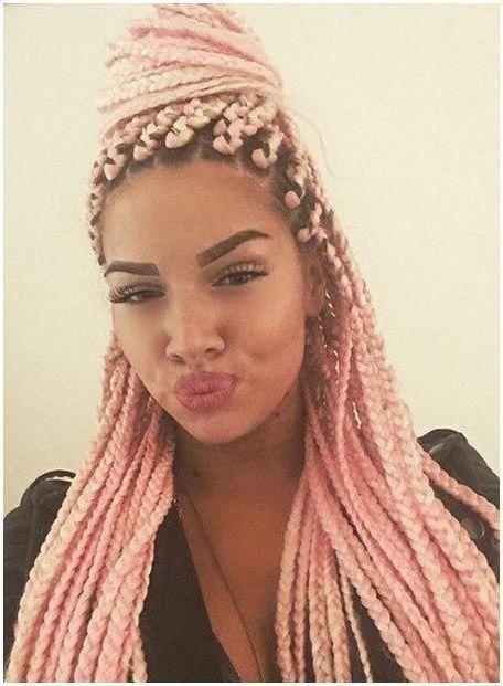 Braids Crossword Clue Longboxbraids Fatih Cali Pink Box Braids Box Braids Hairstyles Hair Styles