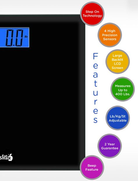 EatSmart Products Precision Choice Digital Bathroom Scale