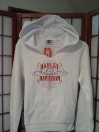 Harley-Davidson Womens White Hoodie SZ LARGE