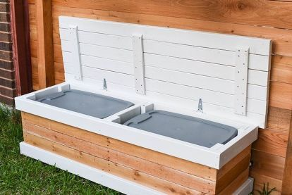 17 Benches You Can Build This Summer Patio Storage Outdoor Storage Bench Backyard Storage