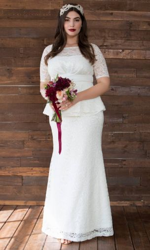 Plus Size Dresses For Wedding Poised Peplum Wedding Gown Blog Post Affordable Plus Siz Peplum Wedding Gowns Size 24 Wedding Dress Wedding Dresses Romantic