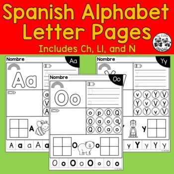Spanish Alphabet Letter Pages Spanish Alphabet Letters Rainbow Writing Spanish Alphabet