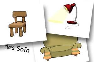 827e0e777a2976 DaZ Material zur Sprachförderung in der Grundschule - Bildkarten Möbel