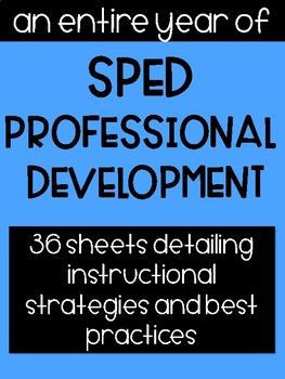 Want To Train Your Paraprofessionals But Not Sure Where To Start Begin Here This Complete Paraprofessional Special Education Teacher Instructional Strategies