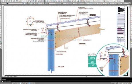 Complete Double Span Hangar Portal Frame Design Details Roof Eaves Frame Design Roof Design