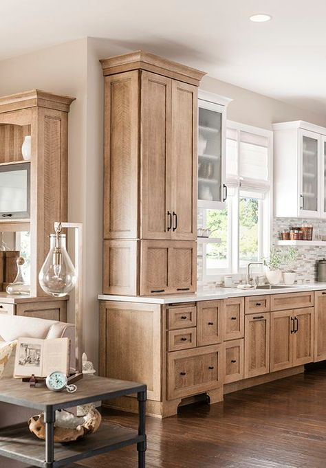 60 Contemporary Wooden Kitchen Cabinets For Home Inspiration. Choosing the perfect wooden kitchen cabinets for your home is not as simple as it might appear. Natural Wood Kitchen Cabinets, Best Kitchen Cabinets, Farmhouse Kitchen Cabinets, Modern Farmhouse Kitchens, Kitchen Rustic, Kitchen White, Smart Kitchen, Kitchen Counters, Kitchen Modern