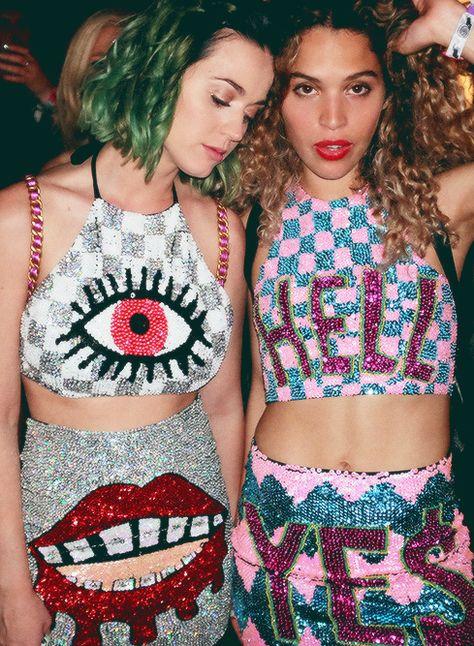 Katy Perry & her stylist Cleo Wade @ Coachella