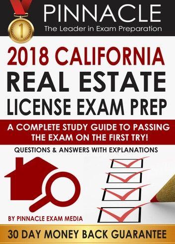 2018 California Real Estate License Exam Prep A Complete S In 2020 California Real Estate License Real Estate License Exam Prep