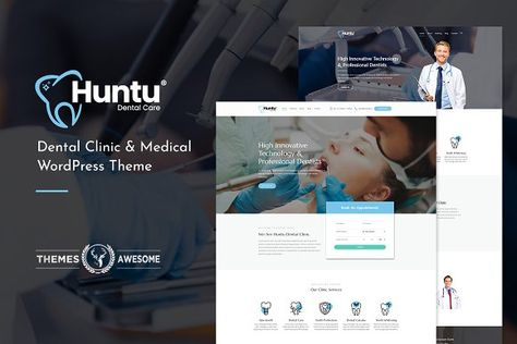 Huntu - Dental Clinic Theme by Themes Awesome on @creativemarket