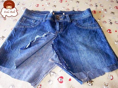 52cde52daa Erika Paola  Reciclando un par de pantalones Jeans para hacer u ...