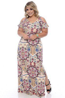 Vestido Plus Size Eve | Vestidos longos estampados