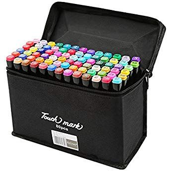Bag UK 80 Colours Sets Oil marker Pen Dual Headed Artist Sketch Copic Animation