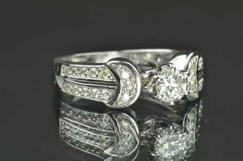 .75 Carat Solitaire Engagement Ring / .35 Carat Center, $995.00