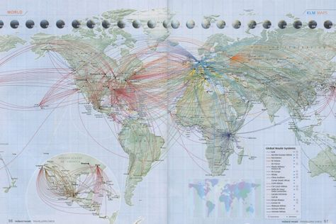 2011 - Delta / Air France / KLM SkyTeam Alliance Route Map ...