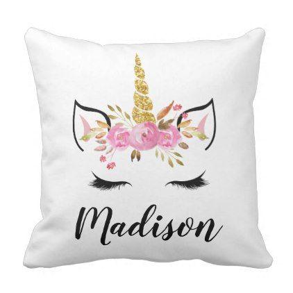 Personalised Unicorn Pillowcase Printed Gift Custom Made Print