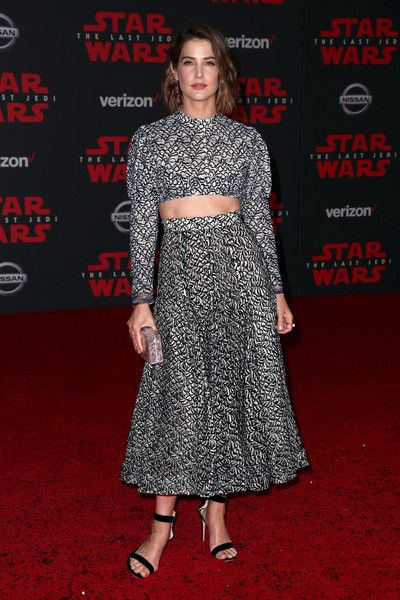 Cobie Smulders attends the premiere of Disney Pictures and Lucasfilm's 'Star Wars: The Last Jedi.'