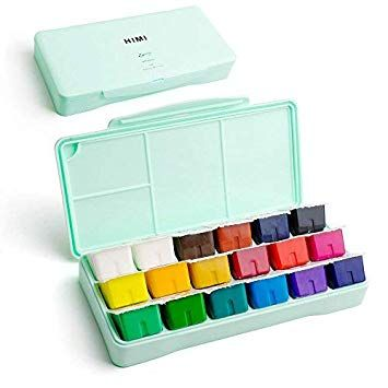 This Gouache Box Is So Cute Miya Himi Review Gouache Paint Set Watercolor Paint Set Gouache