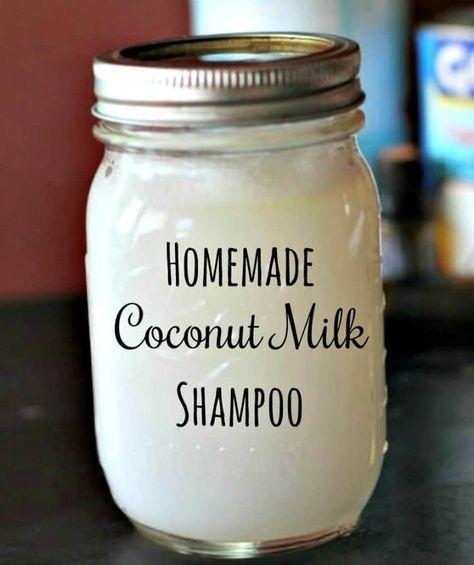 Homemade Coconut Milk Shampoo DIY Beauty Recipe Tutorials Homemade Herbal Shampoo - Most people woul Shampoo Diy, How To Make Shampoo, Homemade Shampoo And Conditioner, Homemade Shampoo Recipes, Organic Shampoo, Natural Shampoo Homemade, Homemade Body Wash, Natural Hair Shampoo, Deodorant Recipes