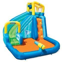 H2ogo Double Aqua Ramp Slide Target Inflatable Water Park Water Zone Inflatable Water Slide