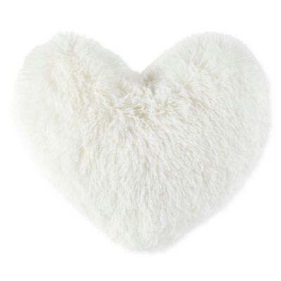 Jcpenney Home Soft Faux Fur Heart Shaped Pillow Soft Pillows Pillows Faux Fur