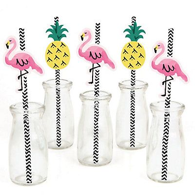 Set of 12 Summer Party Decorations Party Cupcake Wrappers Big Dot of Happiness Tropical Pineapple