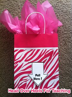 Head Over Heels For Teaching: money gift bag...pull arrow and roll of dollar bills comes out - cute!