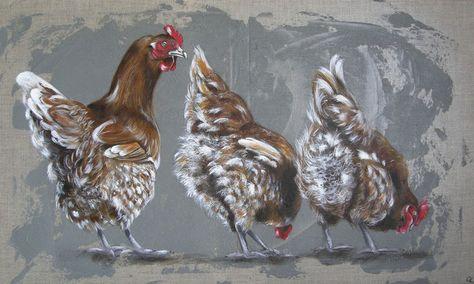 100 Idees De Poules Originales Peinture De Coq Art De Coq Coq