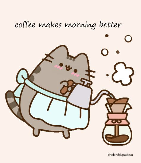 Coffee Makes Morning Better Petit Chat Trop Mignon Chat Trop