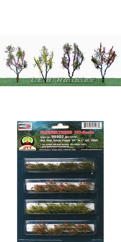 Scenery And Trees 11648 Jtt Scenery Flower Trees Ho Scale 3 4 1 48 Pk 95503 Buy It Now Only 10 95 On Ebay Planting Flowers Scenery Ho Scale Buildings