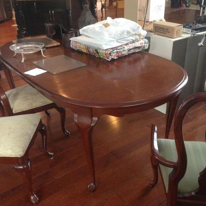 Dining Set Makeover Using Superior Paint Saman Stain Dining