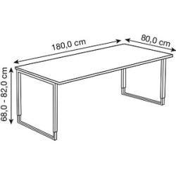 Kerkmann Yukon Hohenverstellbarer Schreibtisch Wenge Rechteckig Kerkmannkerkmann In 2020 Arbeitstisch Hohenverstellbarer Schreibtisch Schreibtisch