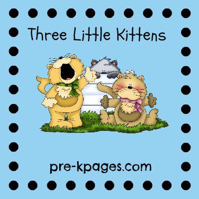 Three Little Kittens Nursery Rhyme Activities and Printables via